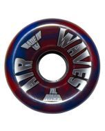 Air Waves Red/Blue Swirl Wheels 65mm - Set of 4