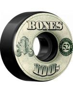 Bones OG 100s #11 V4 Black Skateboard Wheels - 52mm
