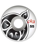 Pig Head Natural Skateboard Wheels - 55mm