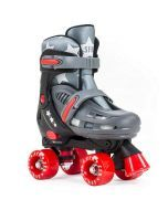 SFR Hurricane II Adjustable Roller Skates - Grey/Red