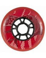 Undercover Chameleon Red Inline Skate Wheels - 90mm 88a Set of 4