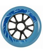 Undercover Lion Blue Inline Skate Wheels - 110mm 88a Set of 6