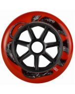 Undercover Python Red Inline Skate Wheels - 125mm 88a Set of 6