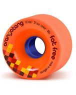 Orangatang Fat Free Longboard Wheels - Orange 65mm 80a
