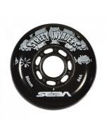 Street Invaders Inline Skate Wheels 84a - Black 4 Pack