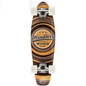 """Mindless Stained Daily II Cruiser Skateboard - Brown 24"""""""