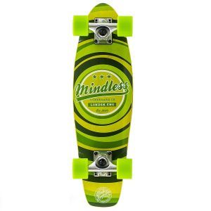 """Mindless Stained Daily II Cruiser Skateboard - Green 24"""""""