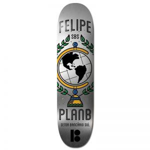 Plan B Black Ice Felipe SBS Skateboard Deck - 8.0""