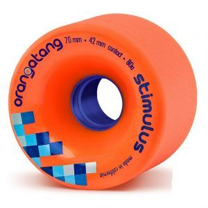 Orangatang Stimulus Longboard Wheels - Orange 70mm 80a