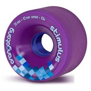 Orangatang Stimulus Longboard Wheels - Purple 70mm 83a