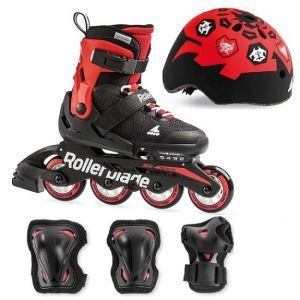 Rollerblade Microblade Kids Skates Cube Pack - Black/Red