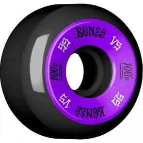 Bones 100's #1 V5 Black Skateboard Wheels - 55mm