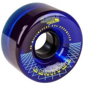 Clouds Quantum Blue Roller Skate Wheels 62mm - Set of 4