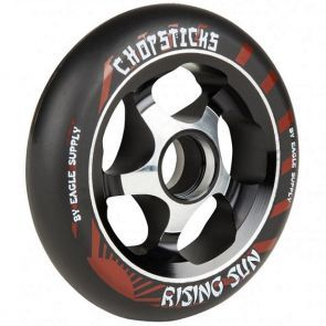 Eagle Chopsticks Rising Sun Scooter Wheel - Black 110mm
