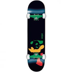Enjoi Rasta Panda Green Skateboard - 7.5""