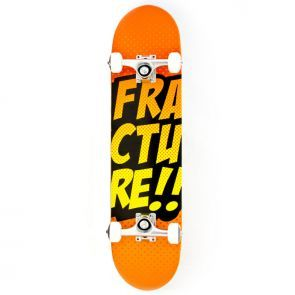 Fracture Comic VT Skateboard Orange - 7.5""
