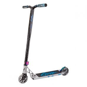 Grit Invader Scooter 2018 - Polished/Blue/Silver Laser