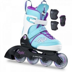 K2 Marlee Pro Skate Pack Adjustable Size Skates - Teal