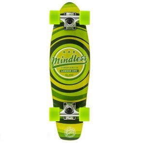 Mindless Stained Daily II Cruiser Skateboard - Green 24""