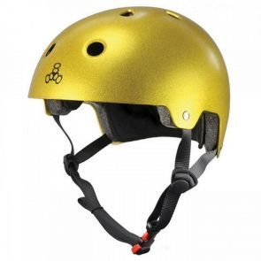 Triple 8 Brainsaver Helmet - Metallic Gold