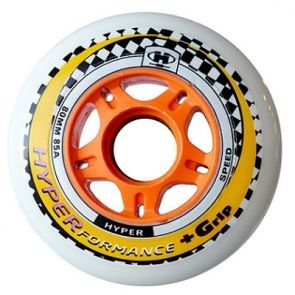 Hyperformance +G Inline Skate Wheels - White 4 Pack
