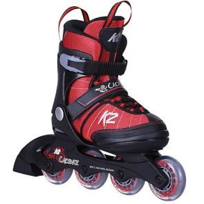 K2 Cadence JR Adjustable Size Inline Skates - Red