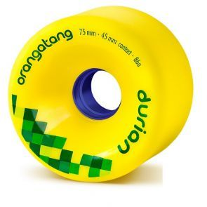 Orangatang Durian Longboard Wheels - Yellow 75mm 86a