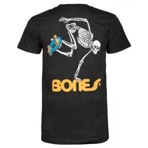Powell Peralta Skateboard Skeleton T Shirt - Black