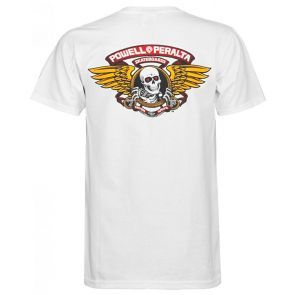 Powell Peralta Winged Ripper T Shirt - White