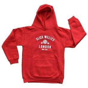 Slick Willies London Kids Hoody - Red