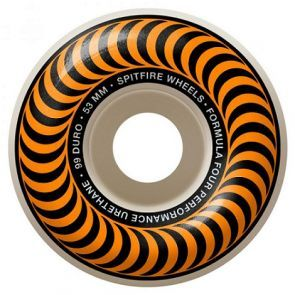 Spitfire Formula Four Classics Orange Skateboard Wheels - 53mm 99du