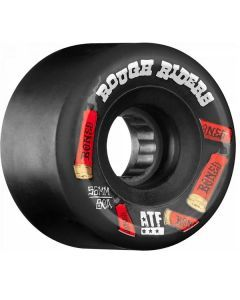 Bones ATF Rough Riders Shotgun Black Skateboard Wheels - 56mm 80a
