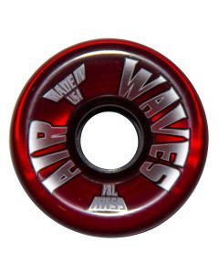 Air Waves Clear Red Wheels 65mm - Set of 4