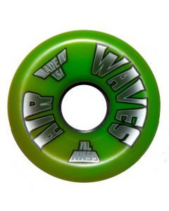 Air Waves Green/Yellow Swirl Wheels 65mm - Set of 4