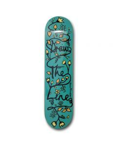 Drawing Boards Line Turquoise Skateboard Deck - 8.5""