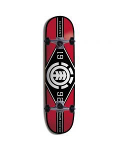 Element Major League Skateboard Red - 7.75""