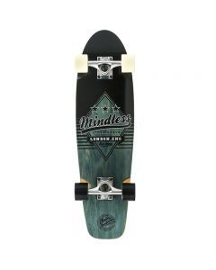 "Mindless Daily Grande II Cruiser Skateboard 28"" - Black/White"