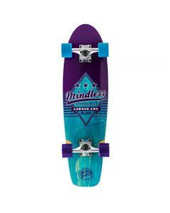 "Mindless Daily Grande II Cruiser Skateboard 28"" - Blue/Purple"