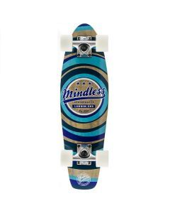 Mindless Stained Daily II Cruiser Skateboard - Blue 24""