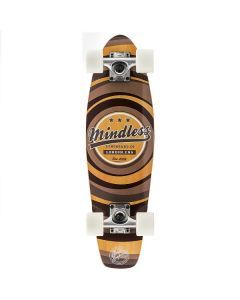 Mindless Stained Daily II Cruiser Skateboard - Brown 24""
