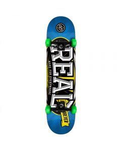 Real League Oval Mini Skateboard Blue - 7.3""