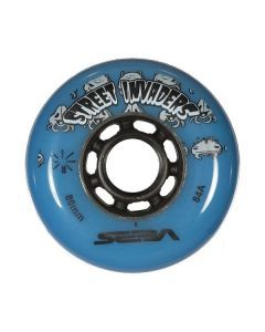 Street Invaders Inline Skate Wheels 84a - Blue 4 Pack