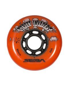 Street Invaders Inline Skate Wheels 84a - Orange 4 Pack