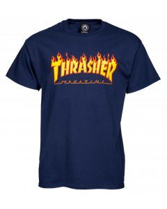 Thrasher Flame Logo T-Shirt - Navy